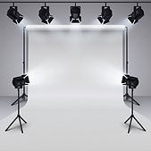 materiel-eclairage-fond-blanc-studio-pho