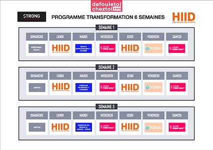 calendrier programme transformation 6 se