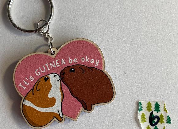 SALE - Slightly Damaged - Guinea Pig Keyring B6