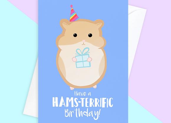 hamster birthday card, birthday card for hamster owner
