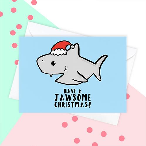 Shark Christmas Card