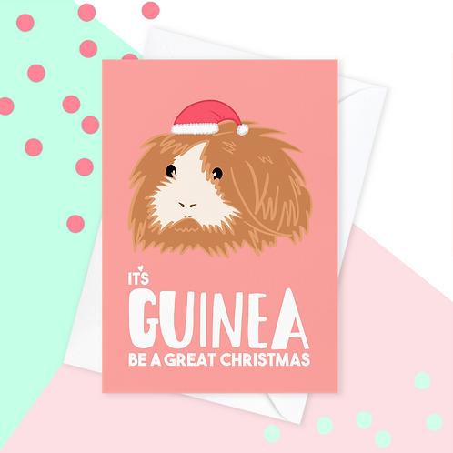 Guinea Pig Christmas Card