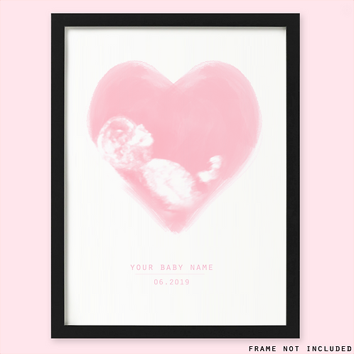 Personalised Baby Ultrasound Print