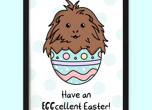 Guinea Pig Easter Egg Print