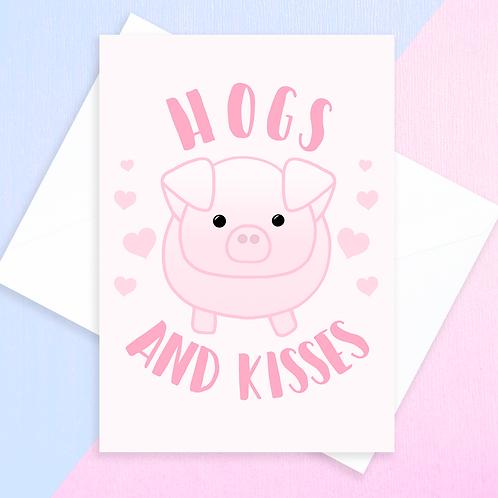 Pig Anniversary Card