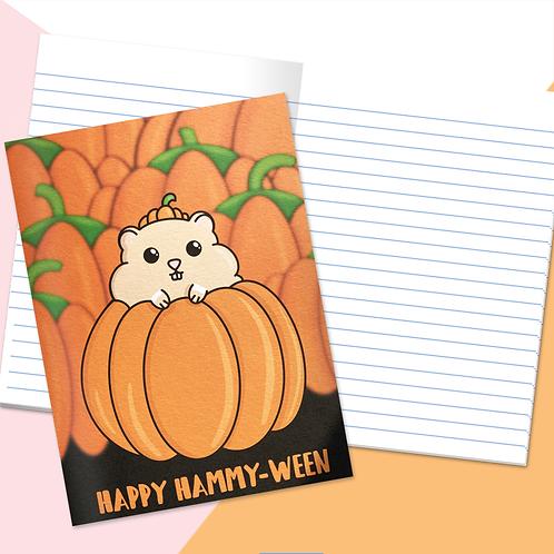 Hamster Halloween Notebook
