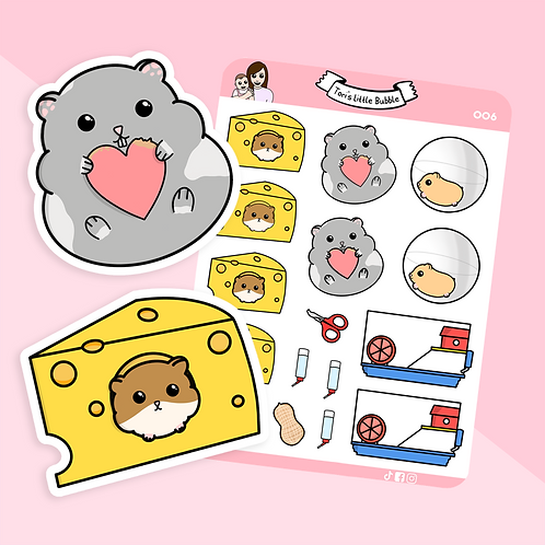 Hamster Care Planner Stickers