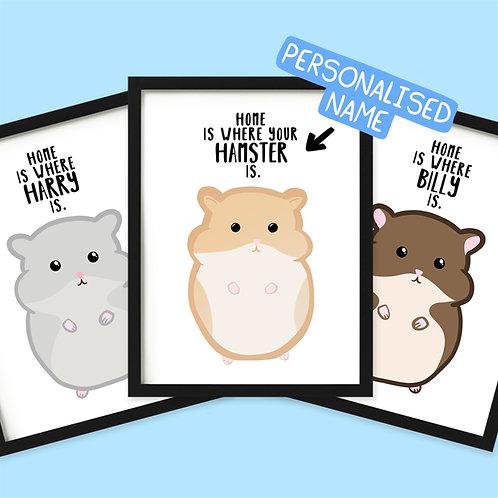 Personalised Hamster Print