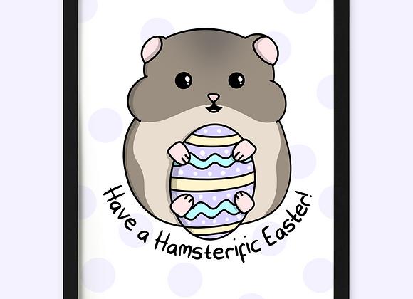 hamster easter print, easter gift for hamster owner