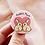 rabbit mum badge, birthday gift for rabbit mum