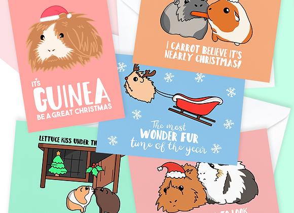 Guinea Pig Christmas Card Pack