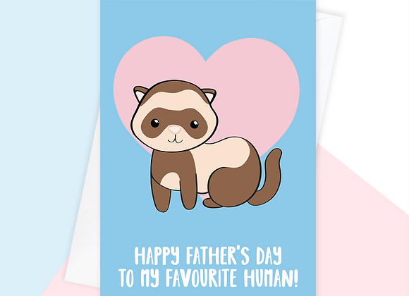 ferret fathers day card, fathers day card from the ferret