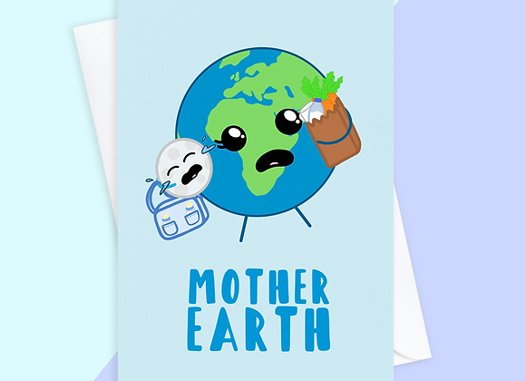 mother earth new baby card, amazing new mum card