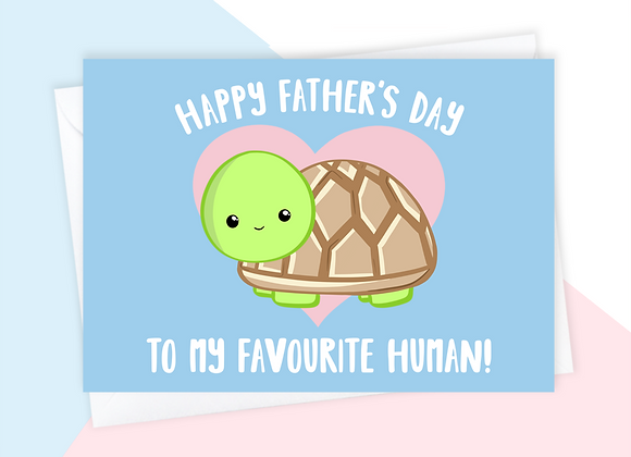 turtle fathers day card, fathers day card from the tortoise