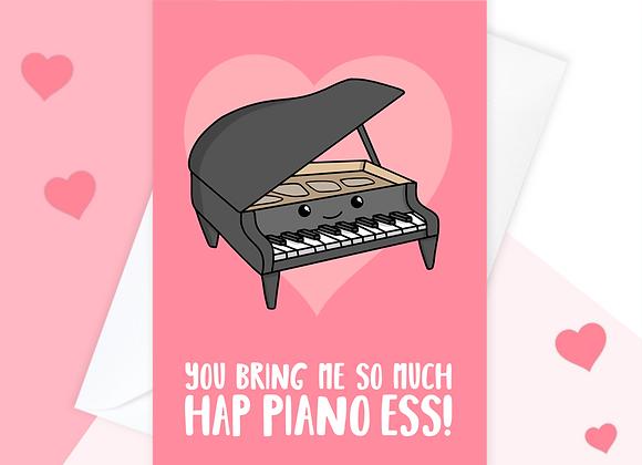 Piano Valentine's Anniversary Card