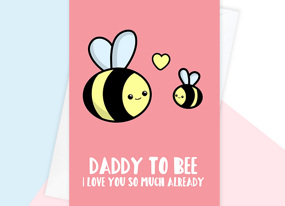 daddy to be fathers day card, fathers day card from the bump