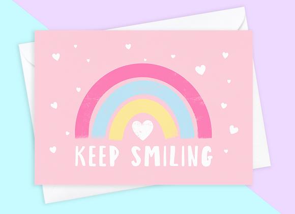 Keep Smiling Rainbow Card