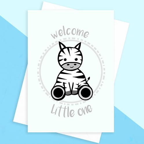 Zebra Baby Shower Card
