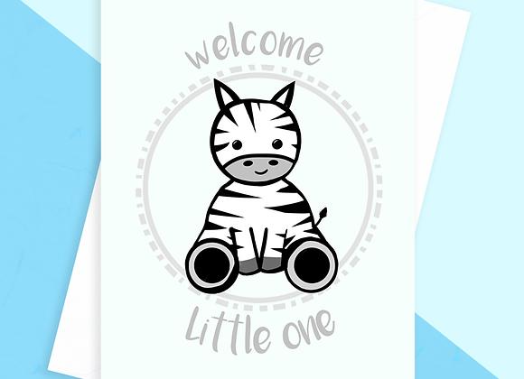 Zebra Baby Shower Card, Gender Nuetral New Baby Card