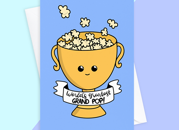 greatest grand pop card, funny card for grand pop, fathers day card grand pop