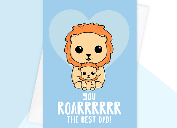 Lion Father's Day Card From Baby Toddler