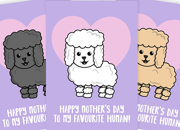 Mother's Day card from the poodle, poodle Mother's Day card