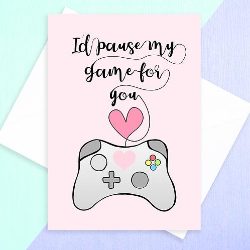 Gaming Anniversary Card