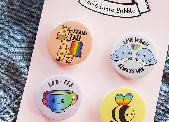 LGBT Badge Set