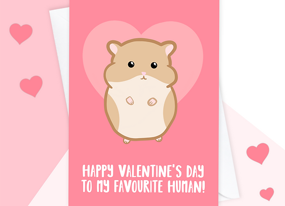 Valentine's Card From Hamster