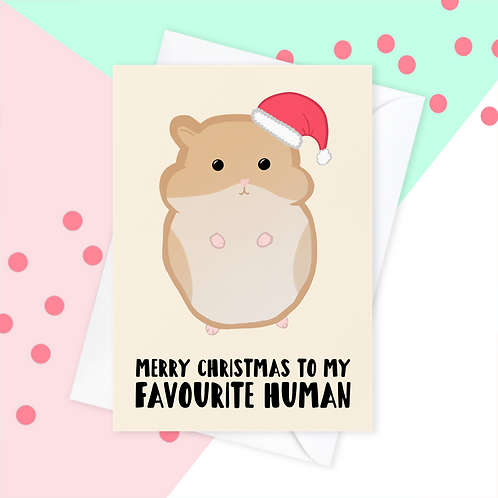 Christmas Card From The Hamster