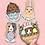 Guinea Pig Easter Stickers, Easter Gift For Guinea Pig Owner