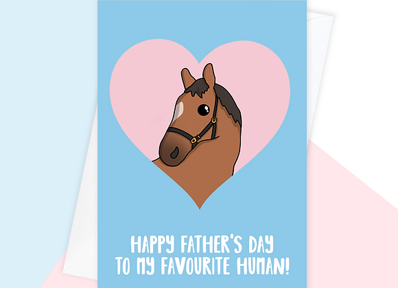 fathers day card from the horse, horse fathers day card