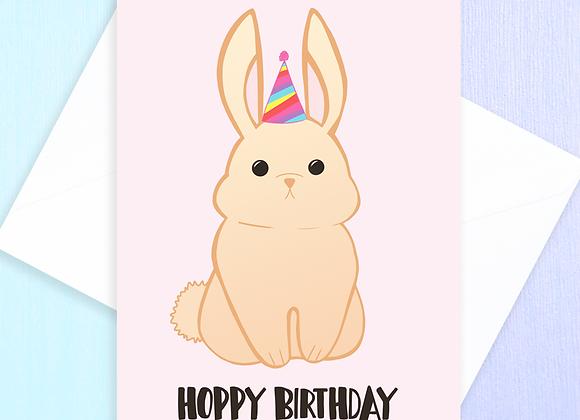 rabbit birthday card, birthday card for rabbit owner