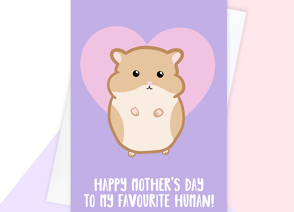 mothers day card from hamster, hamster mothers day card