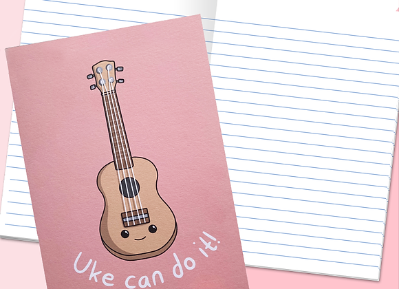 ukulele notebook, positivity ukulele stationery notebook