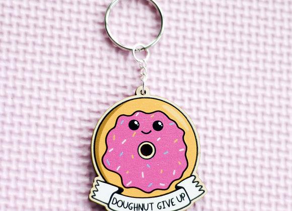 Doughnut Positivity Key Ring