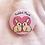 rabbit owner badge, gift for rabbit owner