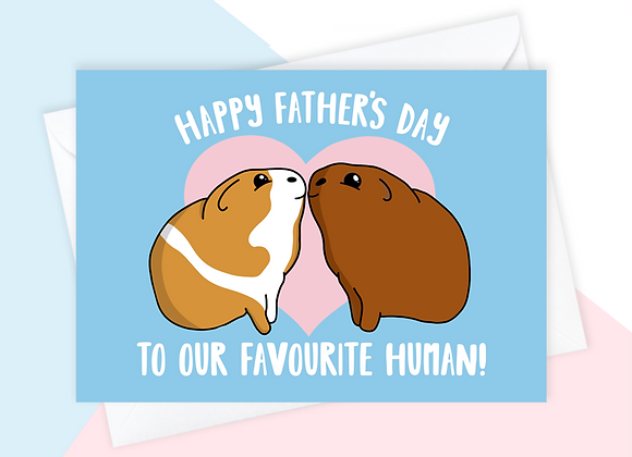 guinea pig fathers day card, fathers day card for guinea pig owner