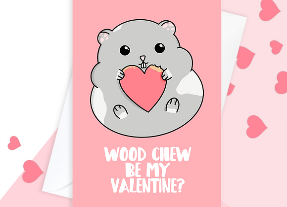 Hamster Valentine's Day Card