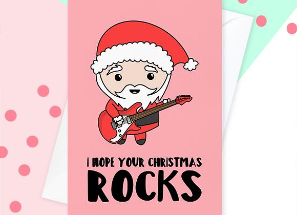 guitar christmas card, guitarist christmas card
