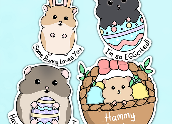 Hamster Easter Stickers