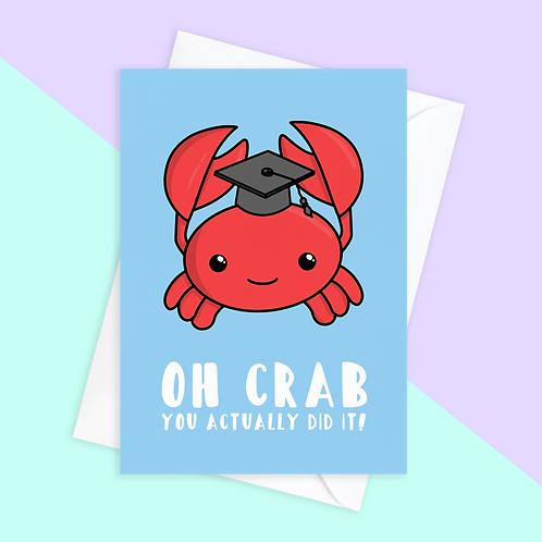 Cheeky Crab Graduation Card