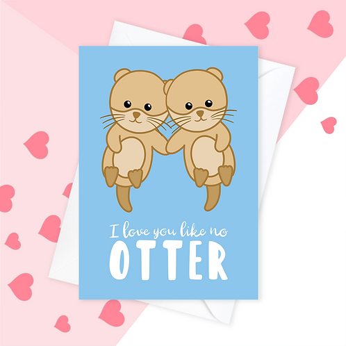 Otter Anniversary Card