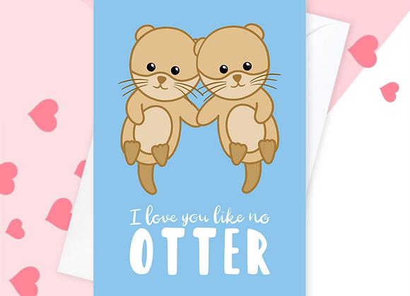 Otter Anniversary Card