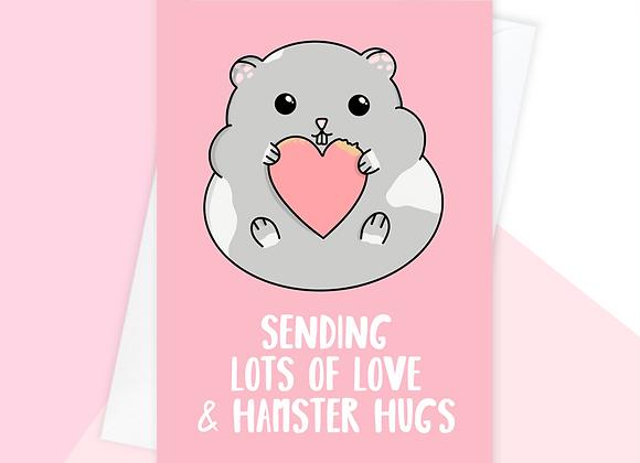 hamster feel better soon card, hamster sympathy card