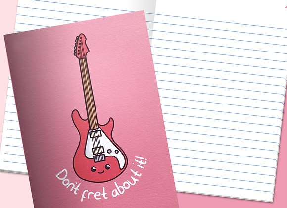 guitar notebook, guitar pun notebook gift