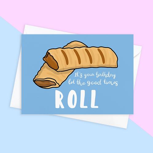 Sausage Roll Birthday Card