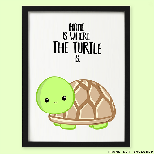Personalised Turtle Print