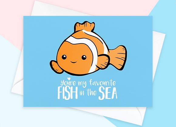 Fish Anniversary Card