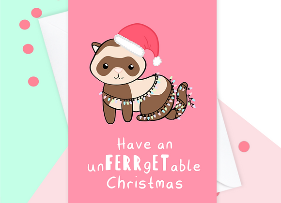 ferret christmas card, christmas card from the ferret